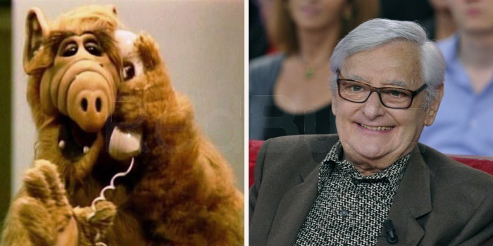 El actor Roger Carel en la serie Alf.