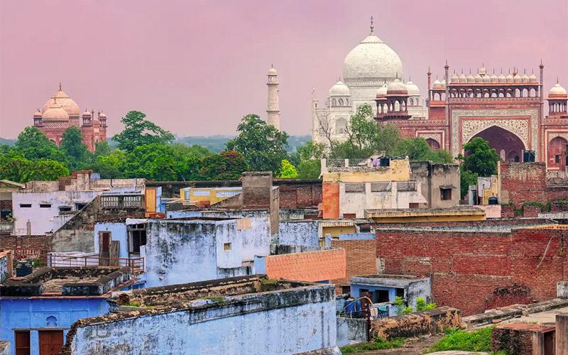 Die Stadt von Agra
